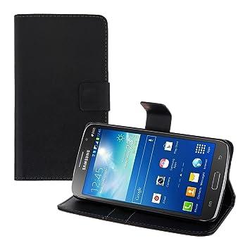 kwmobile Funda para Samsung Galaxy Grand 2 G7105 - Carcasa de [Cuero sintético] - Case con Tapa y [Tarjetero] en [Negro]