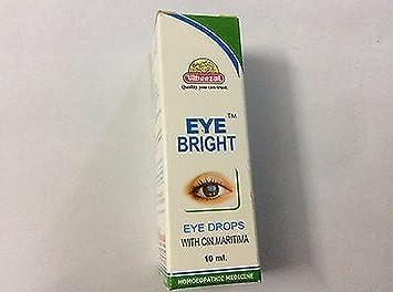 EYE BRIGHT EYE DROPS HOMEOPATHIC WITH CINERARIA MARITIMA 10 ml x 2 Pack