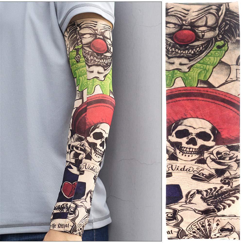 charmsamx Mangas de Tatuajes temporales de Brazo Completo ...