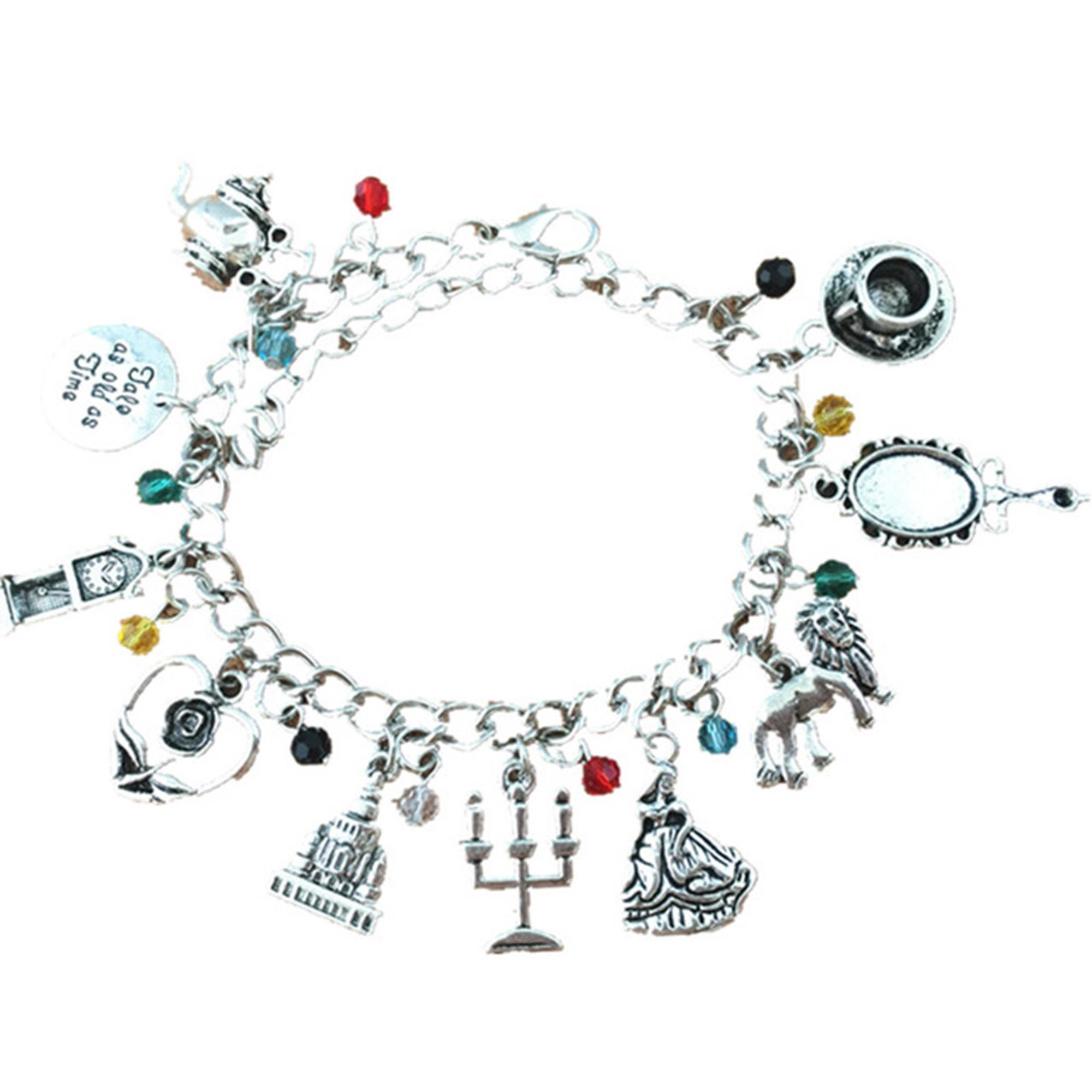 J&C Family Owned Beauty and The Beast 10 Charms Lobster Clasp Bracelet in Gift Box by J&C Family Owned Brand (Image #1)