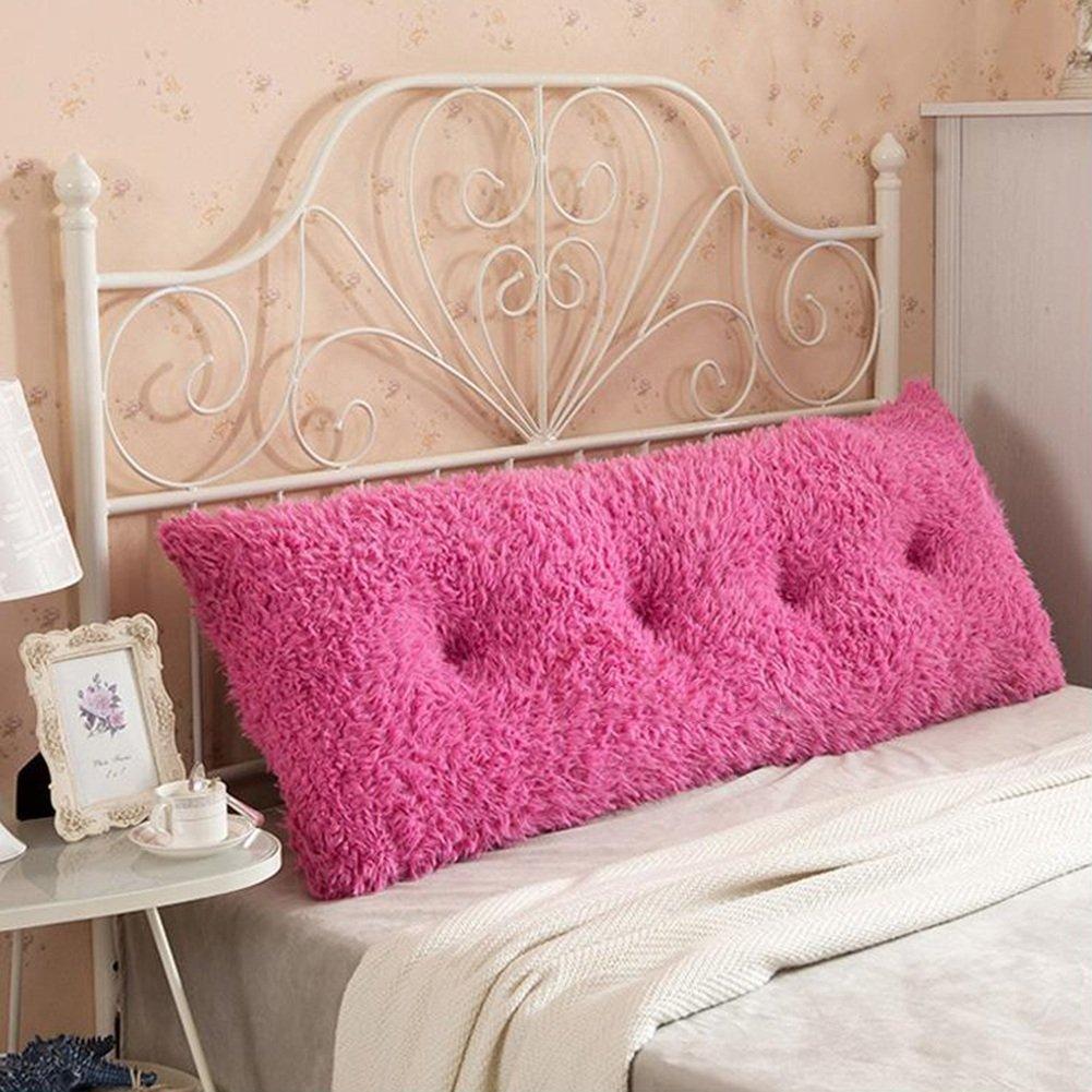 LIXIONG ヘッドボードクッションベッドサイドソフトパッケージソファ枕シングルまたはダブルバックレストウエストパッド、8色、6サイズ (色 : ピンク ぴんく, サイズ さいず : 120cm*50cm) B07BL37QD1 120cm*50cm|ピンク ぴんく ピンク ぴんく 120cm*50cm
