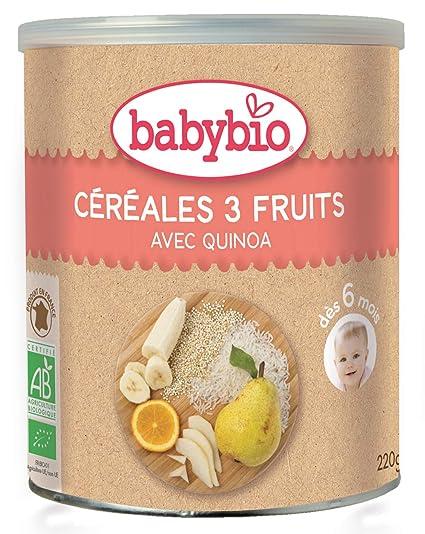 Babybio Cereales 3 Frutas - 220 gr