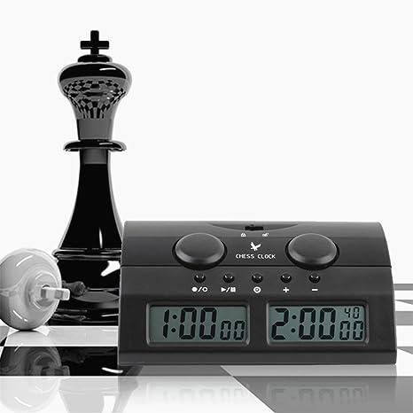 CHSEEA Reloj Digital de ajedrez Temporizador de Junta Juego Cuenta hasta Down Competición Reloj Game Timer