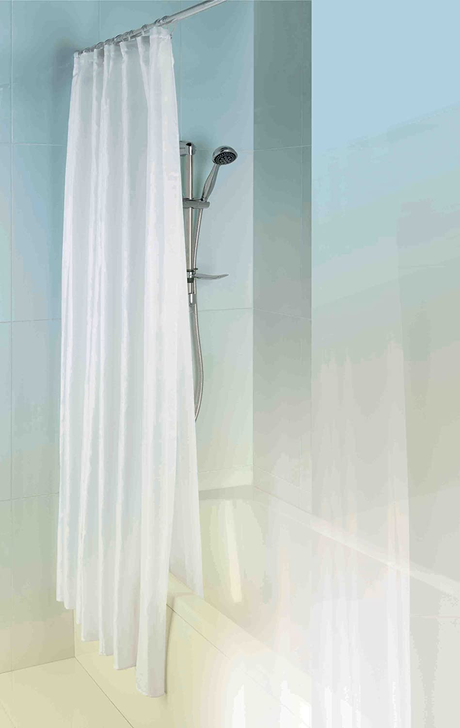 double shower curtain ideas. MX Group 5017706602068 1800 X Mm Double Layer PEVA And Textile Shower Curtain Polyester - White: Amazon.co.uk: DIY \u0026 Tools Ideas N