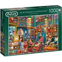 Jumbo 11267 Falcon de Luxe-Afternoon at The Bookshop 1000 Piece Jigsaw Puzzle, Multi