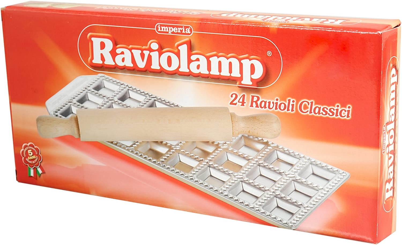 Imperia Raviolamp 24 Ravioli Classici with Rolling Pin by Imperia