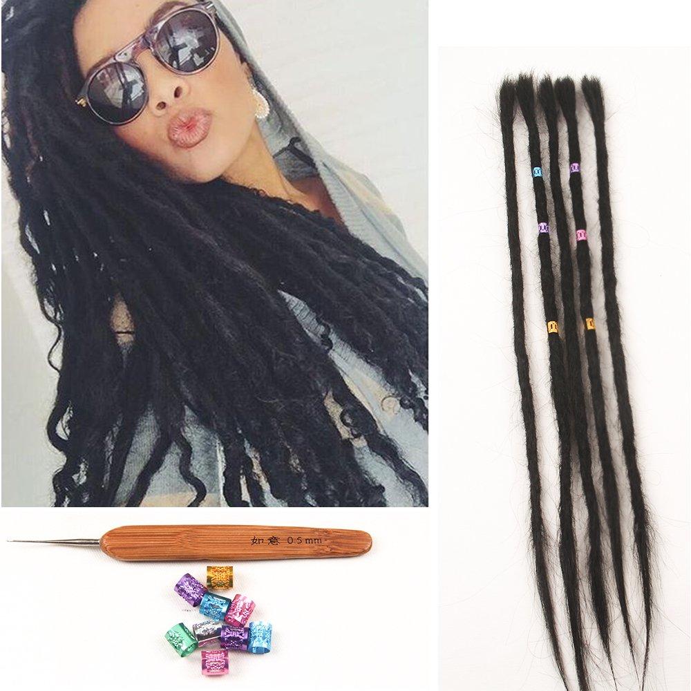 Amazon Dsoar 100 Human Hair Dreadlocks 20 Inch 5 Strandspack
