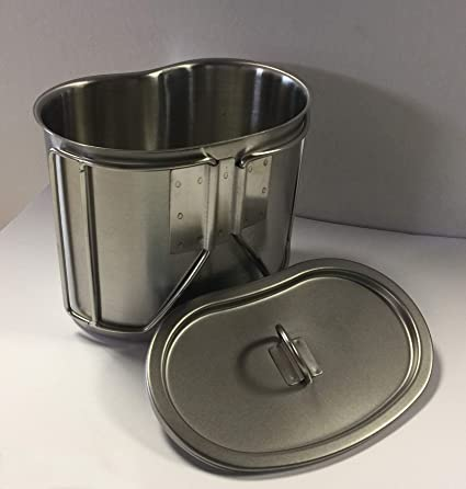 Camping Cooking Metal Lid GI Style Stainless Steel Canteen Cup LID LID ONLY