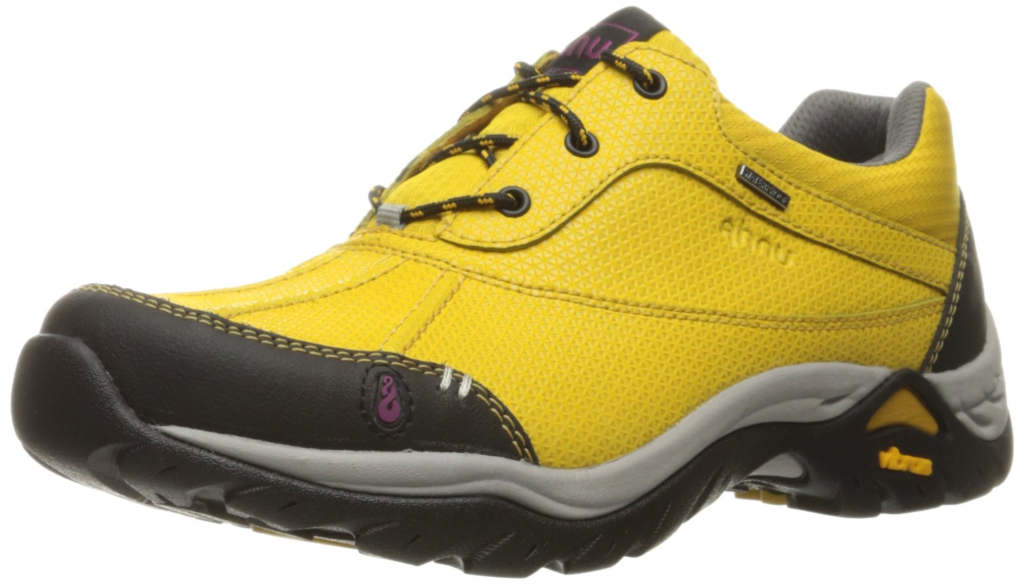 Ahnu Women's Calaveras Waterproof Hiking Shoe, Golden Mustard, 9 M US by Ahnu