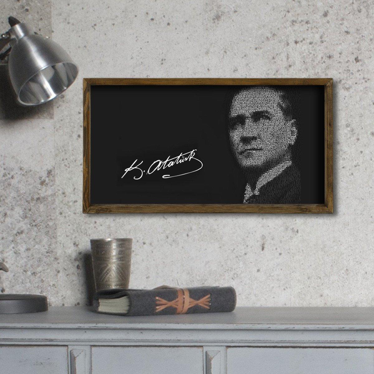 Amazon.de: LaModaHome 100% Kiefer Holz gerahmt Art Wand (24, 9 x 50 ...