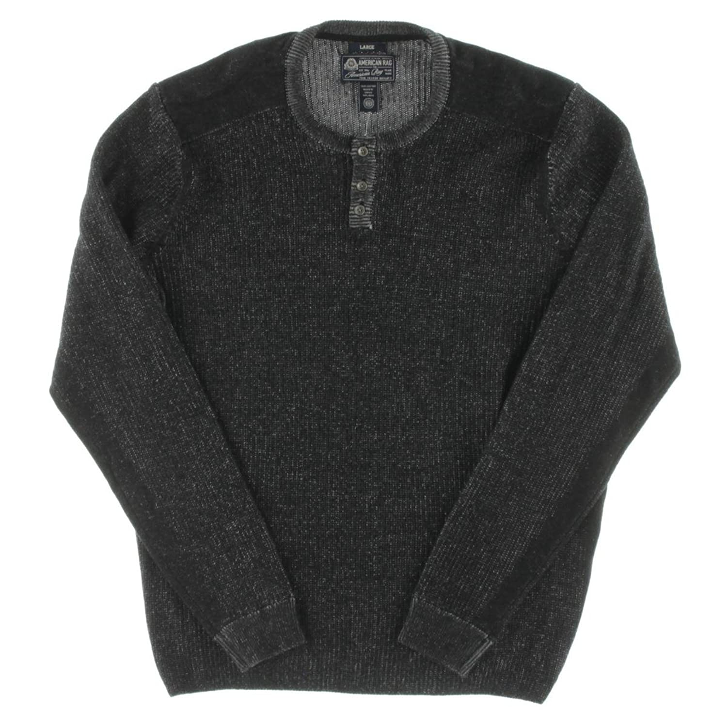 ARTFFEL Mens Casual Long Sleeve Round Neck Knitted Color Block Basic Pullover Sweater