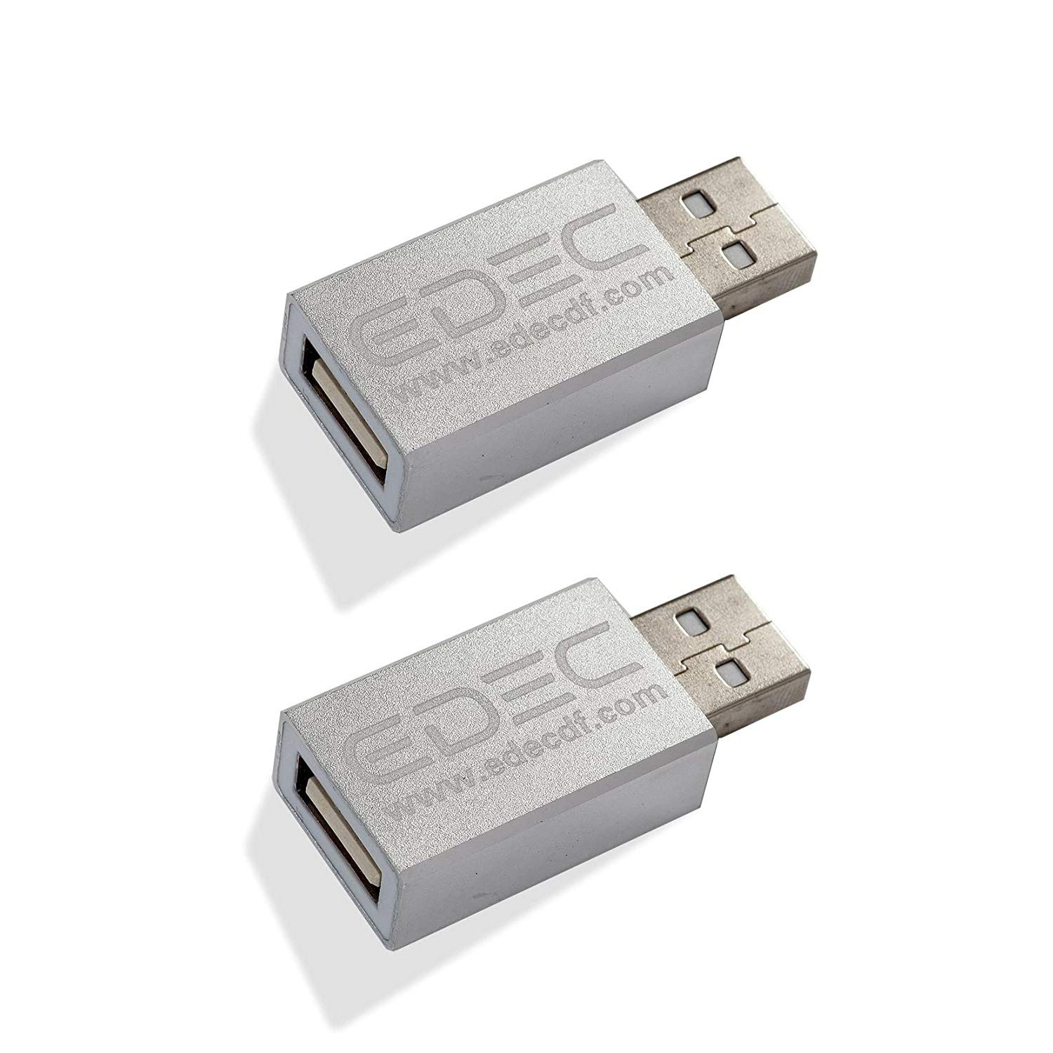 USB Data Blocker (2 Pack) for Cell Phone, Tablet, and Laptop, Block Unwanted Data Transfer, Protect Against Juice Jacking, Safely Charge iPhone, Android Devices