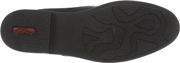 Rieker 50631, Damen Desert Boots, Schwarz (schwarzmogano00