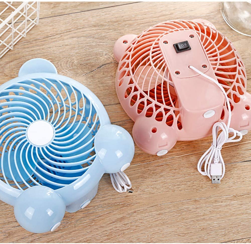 Mini Size Desktop Fan for Home Office Outdoor Travel,Pink 2 Speeds YXFYXF USB Fan Noiseless Desk Fan Silent Fan Portable Cooling Fan Perfect for Notebook Laptop Desk Table