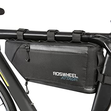 Blue-Black New Cycling Bike Bicycle Frame Front Tube Triangle Bag Quick Release