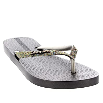 6cb98c8f8 Ipanema Womens Sparkle Slip On Beach Holiday Summer Sandals Flip Flops -  Blush - 6