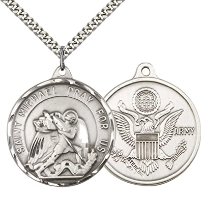 free christopher us pendant ship grande online army silver catholiconline shopping st sterling products catholic