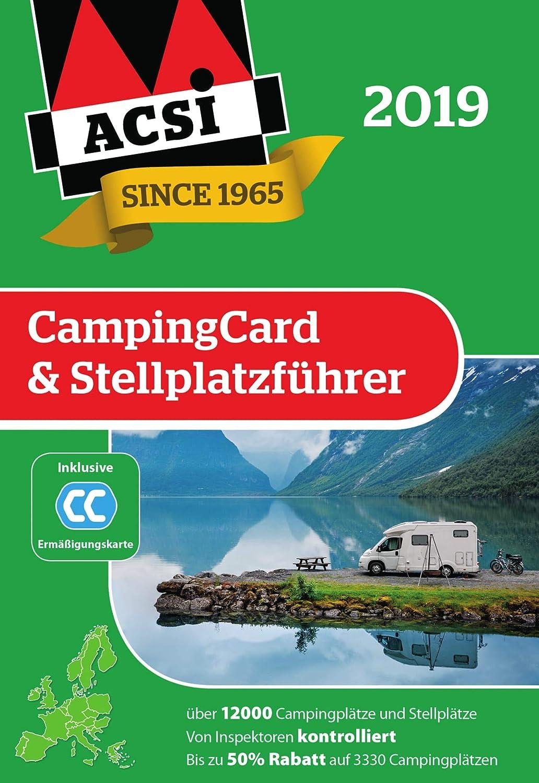 Acsi Karte.Acsi Campingcard Stellplatzfuhrer 2019 Inkl Ermassigungskarte Fur Die Nebensaison