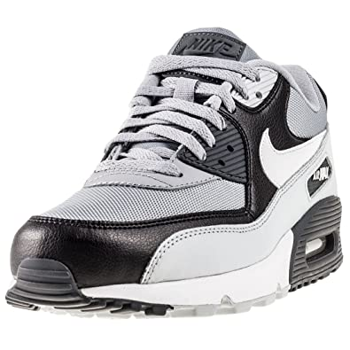 6ce703230404 Nike Air Max 90 Essential Mens Trainers Grey Black White - 12 UK   Amazon.co.uk  Shoes   Bags