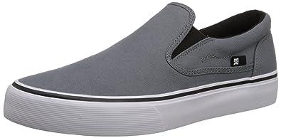 DC Women's Trase Slip-On TX Skate Shoe, Grey/Black, 6 M US