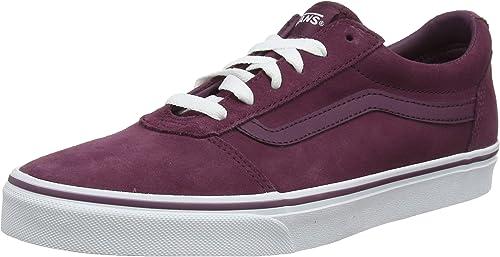 Vans Ward Damen Sneaker Rot Schuhe, Größe:39