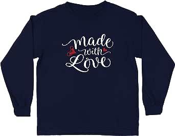 lepni.me Camiseta para Niño/Niña Hecho con Amor Sentirse Especial, Divertido e Inspirador