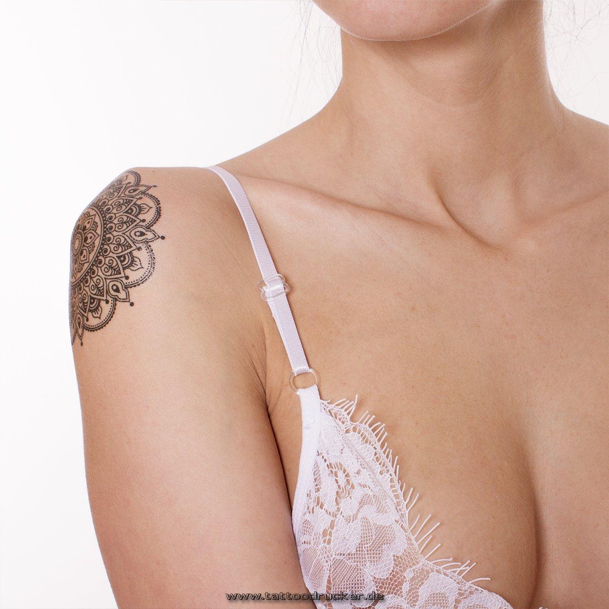 1 Tattoo Mandala Tattoo Negro tatuaje falso Flash Tattoo -Tatuajes ...