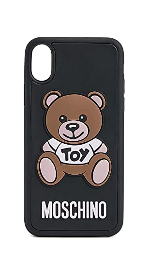 official photos 8bfc7 2b7c2 Amazon.com: Moschino Toy Bear iPhone X Case, Black Multi, One Size ...