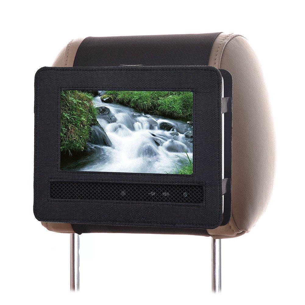 Portable DVD Player Car Headrest Mount Holder, Car Audio Video Swivel and Flip DVD Headrest Mount Strap Case for 9 Inch-9.5inch