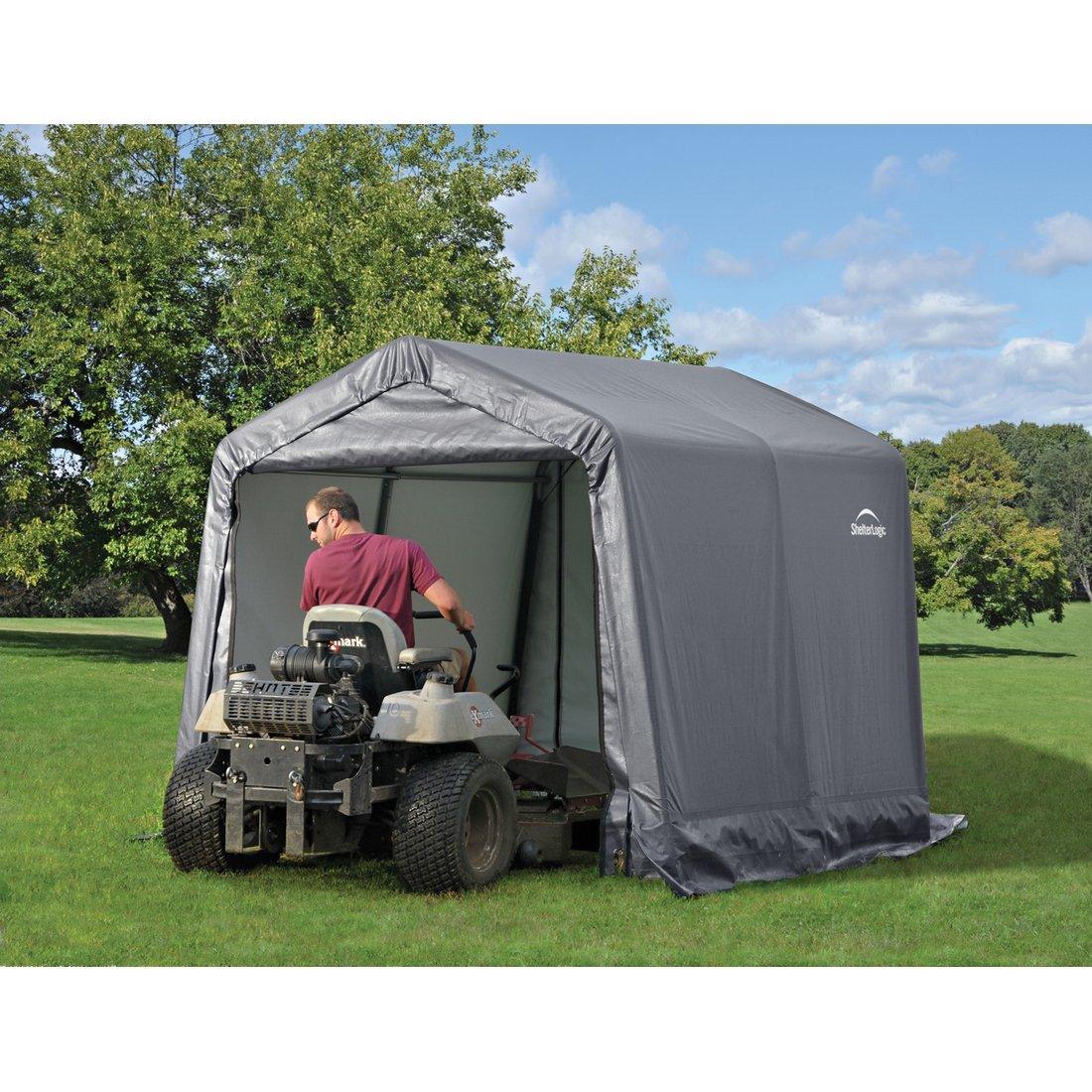 round shelterlogic tools shed w shelter style storage shop x sheds l product