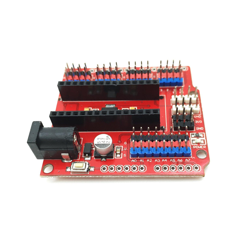 Red Nano V3 Sensor Shield I//O Extension Board Expansion Module Uno IO f Arduino