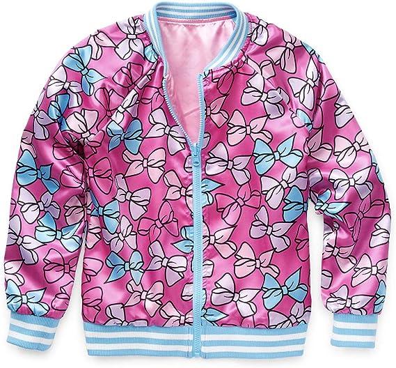 JoJo Siwa Hoodie for Girls Pink Bow Hooded Jacket Coat Lightweight