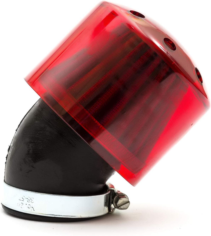 Filtre /à air K /& N 44/mm Rouge Courbe cou Rouge pour PIT BIKE