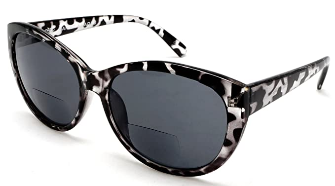 de011697cd3 Women s Bi-Focal SunReaders Fashion Cat Eye Sunglasses Black Tortoise Rx  1.00
