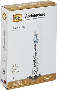 LOZ Micro Blocks, Tokyo Skytree Model, Small Building Block Set, Nanoblock Compatible (650 pcs)
