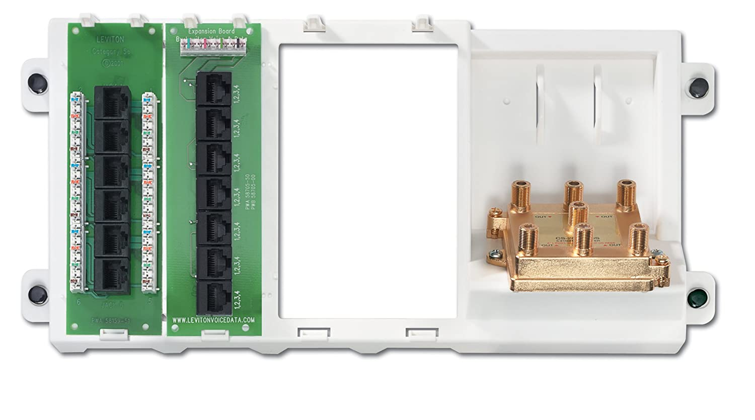 Leviton 47606-BNP Basic Home Networking Plus Panel, White - - Amazon.com