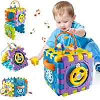 Activity Cube Toddler Toys for 6-12 Months,Early Educational Musical Toys for 12-18 Months,1 Year Old Babies Play Center…