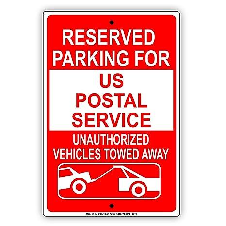 Amazon.com: Parking reservado para nosotros Servicio postal ...