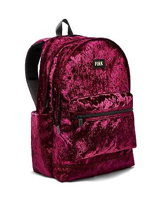 57832dc3f579 Victoria s Secret PINK Velvet Campus Backpack Ruby
