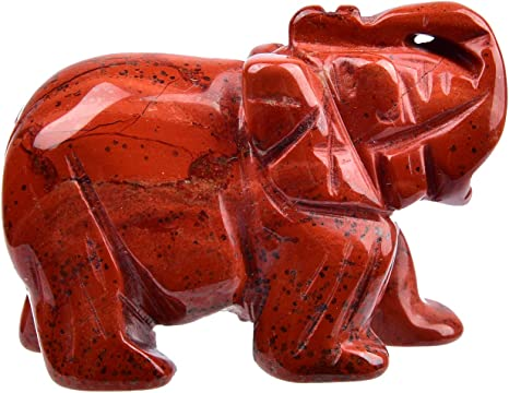 1.5/'/' Obsidian Natural Hand Carved Lucky Elephant  Jade Stone Rocks Ornaments