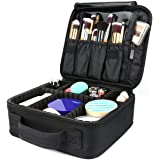 Travel Makeup Bag,Portable Travel Makeup Cosmetic Case Organizer Artist Storage Bag with Adjustable Dividers for Cosmetics Makeup Brushes Toiletry Jewelry Digital Accessories