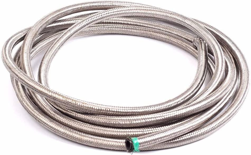 SUNROAD 10AN 10 Ft Universal Premium Braided Stainless Steel Fuel Line Filler Feed Hose Ends Kit