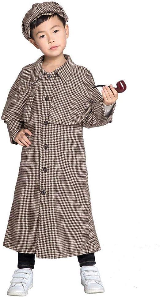 Disfraz De Sherlock Holmes para Niños Disfraz De Cosplay De ...