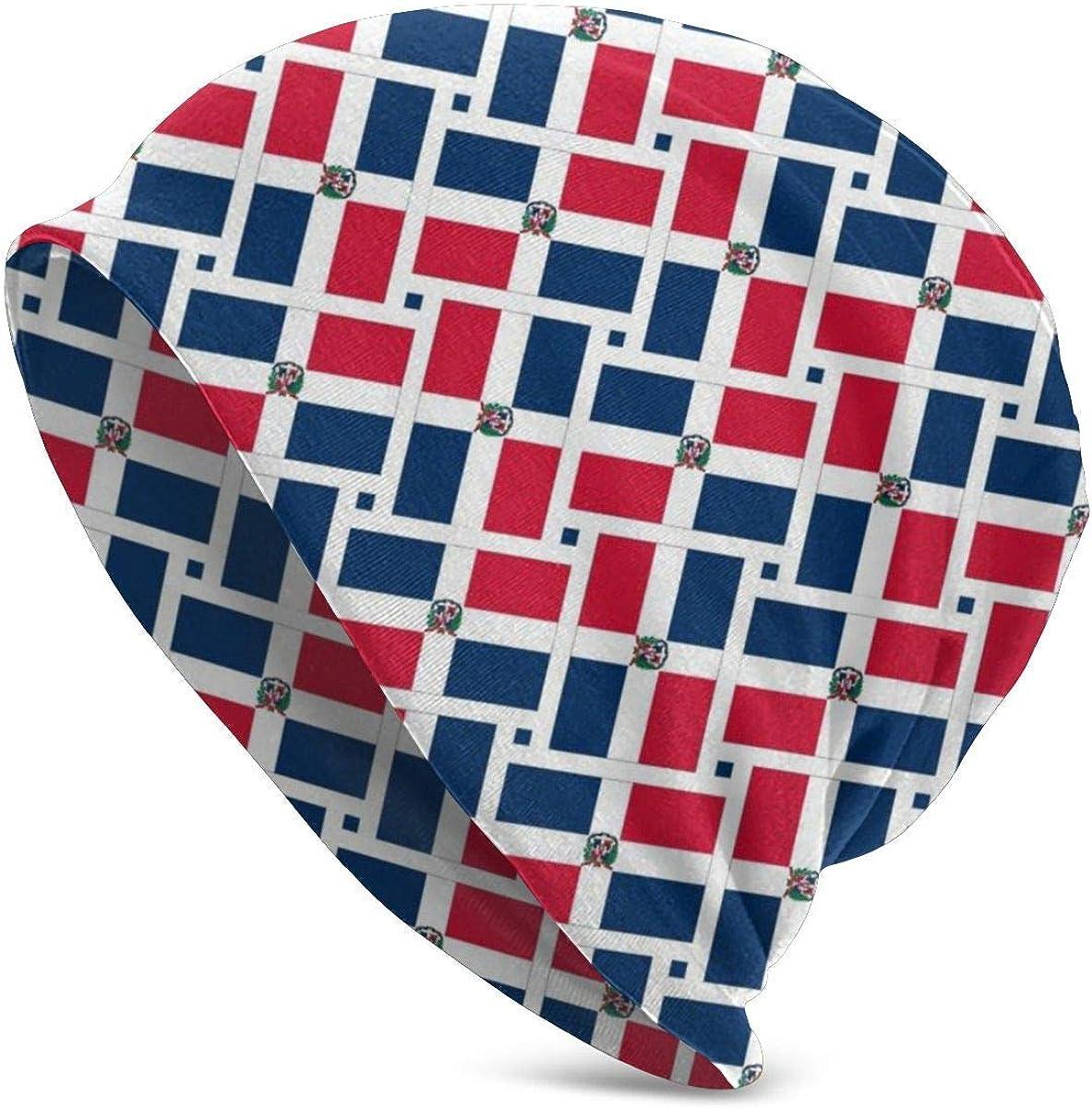 136 Gorro con bandera de la República Dominicana, ligero, holgado, elástico, turbante para hombres y mujeres