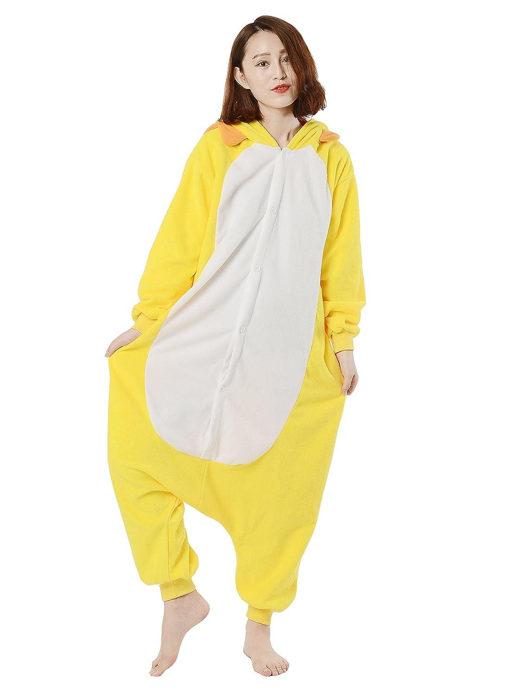 Fandecie Pijama León Amarillo, Onesie Modelo Animales para adulto entre 1,60 y 1,75 m Kugurumi Unisex.: Amazon.es: Ropa y accesorios