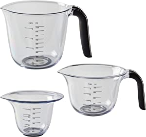 KitchenAid Gourmet Measuring Jugs, Set of 3, Onyx