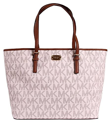 0aabc0cbdaee Amazon.com  Michael Kors Jet Set Travel MK Signature Large Carryall Tote  Handbag  Shoes