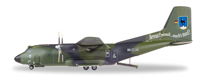 Herpa 558860 Luftwaffe Transall C-160-LTG 61 / Air Transport Wing 61' FlyOut Penzing-5064, Flugzeug