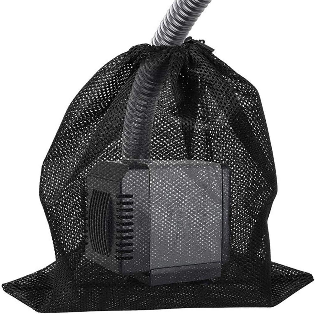 Grand Sac De Maille De Pompe Sac Filtrant De Pompe D/Étang CRYUPE Sac De Barri/ère De Pompe Sac De Support Noir pour Les Filtres Biologiques D/Étang