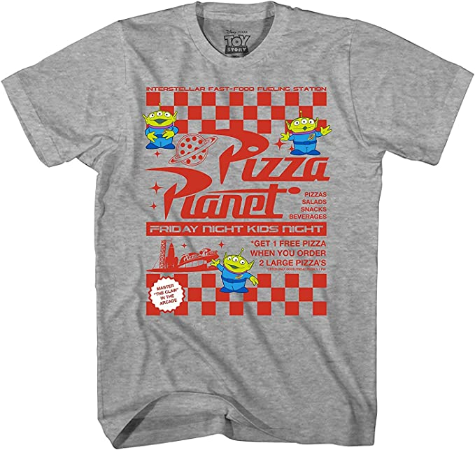Amazoncom Disney Toy Story Pizza Planet Flyer Camiseta
